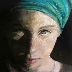 Emma  oil and acrylic on canvas 100x100cm 2015 ROBERTA CONI