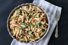 |FashionEdible| Roasted Red Pepper w. Mascarpone Pasta, pasta, food, dinner, healthy