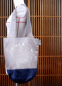 cotton tote / hairy creature / scary hand / original by UTTOKO, ¥7500