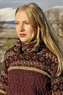 "Ness by Marie Wallin ~ truly stunning colourwork knitted in a DK 8ply. Sized 32"" thru to 50"" and definitely for the experienced knitter"