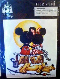 Disney Mickey Mouse Puppy Love Cross Stitch Kit NEW
