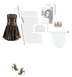 """""""Brass Waves"""" by yuelle ❤ liked on Polyvore featuring Sandberg Furniture, L.A.M.B., Valentino and Halston Heritage"""