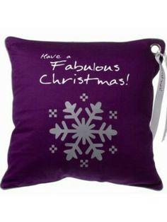 Purple Christmas Pillow
