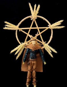 A modern corn dolly representing the god Lugh: Lughnasadh is a Gaelic festival marking the beginning of the harvest season. Historically, it was widely observed throughout Ireland, Scotland and the Isle of Man. Traditionally it is held on 1 August, or ab Corn Dolly, Pagan Festivals, Harvest Festivals, How To Make Corn, Celtic Mythology, Book Of Kells, Harvest Season, Time To Celebrate, Samhain