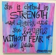 Nice  Girly Verse Canvas- Proverbs 31:25