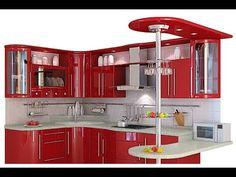 Kitchen Cupboard Designs, Kitchen Room Design, Diy Kitchen Storage, Modern Kitchen Design, Home Decor Kitchen, Interior Design Kitchen, Purple Kitchen, Red Kitchen, Kitchen Prices