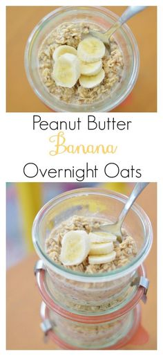 The Art of Comfort Baking Peanut Butter Banana Overnight Oats Easy super yummy and healthy Clean Eating Recipes, Cooking Recipes, Banana Overnight Oats, Healthy Overnight Oats, Healthy Snacks, Healthy Recipes, Healthy Breakfasts, Healthy Baking, Eating Healthy