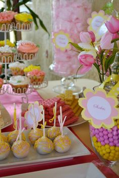 pink and yellow baby shower table party ideas pinterest yellow