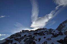 Wolkenspiele in der Nähe der Alpspitze