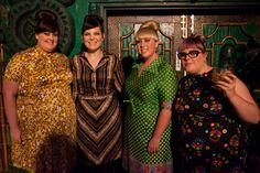 Gorgeous fatties wearing Hey Fatty vintage dresses! Heyfatty.com.au