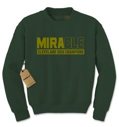 MiraCLE Cleveland 2016 Basketball Champions Adult Crewneck Sweatshirt