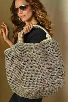 Crochet knitted bag