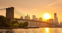 Brooklyn Bridge sunset - New York