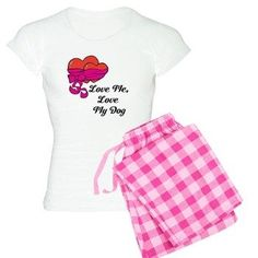 YourDesignerDog Store: Love Me, Love My Dog Pajamas: Two hearts together, because if you love me, you have to love my dog too. Dog Pajamas, Go Shopping, I Love Dogs, Hearts, My Love, Store, My Style, Stuff To Buy, Clothes