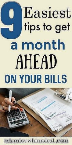 Click through to read the 8 simple tricks to get a month ahead on your bills. You can stop living paycheck to paycheck in less than 30 days using these tips to get ahead on your bills even on a low income. You can live a financially free life if y Ways To Save Money, Money Tips, Money Saving Tips, How To Manage Money, Budgeting Finances, Budgeting Tips, Budgeting System, Vida Frugal, Homepage Layout