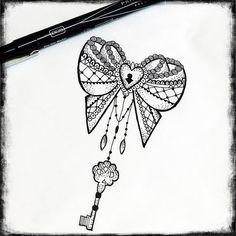 lock key tattoo design. Mandala art Mehndi tattoo and ... | Tattoos ...