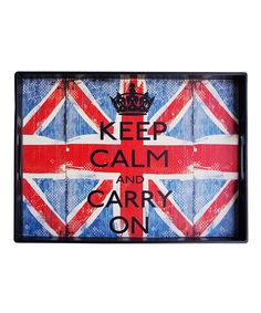 Jay Import 'Keep Calm and Carry On' Tray #Red #zulily