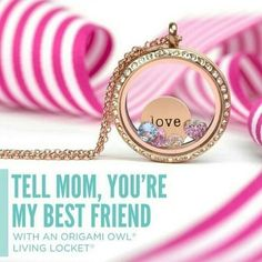 #origamiowl #jewelry #necklace #charms #livinglocket #locket #love #spring #mom #mothersday #mother #gift #O2 #OO #gold  find your own here.  http://christypierce.origamiowl.com/parties/christypierc201881/default.ashx