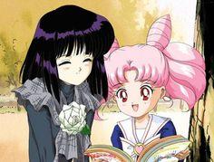 Tomoe Hotaru and Chibiusa
