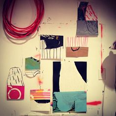 Studio Wall Collage, Sarah Boyts Yoder