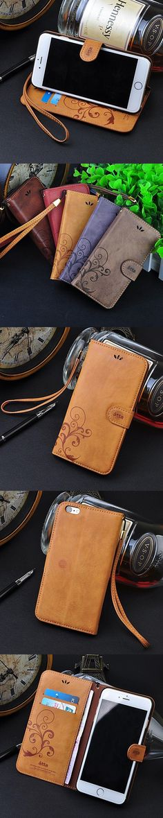 Retro Leather Skin Wallet Cover Case For Apple iPhone 5 5s 6 6s 6Plus