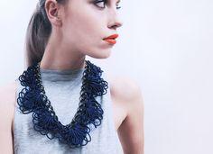 sailing rope by alienina alienina.com Sailing Rope, Fibre And Fabric, Fabric Jewelry, Contemporary Jewellery, Wearable Art, Ali, Jewlery, Fiber, Fashion Accessories