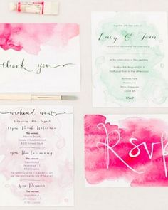 Watercolor Wedding  http://everybrideswedding.weebly.com/