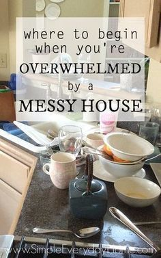 Are you tired of the mess and clutter that seem to be absolutely everywhere you look? Are you tired of feeling continually overwhelmed and like you just can't catch up? There really is a way out of the mess and the overwhelm! It won't happen overnight, but these steps will help you get on track to a home you can keep clean and enjoy! #clutterhelp