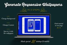 Wallpaper generator in 1 click by Difiz Boutique on @creativework247