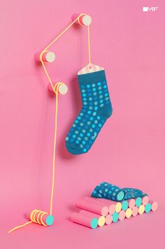 Showcase and discover creative work on the world's leading online platform for… Sock Display, Lehenga, Sock Store, Underwear Store, Clothing Photography, Product Photography, Cute Socks, Colorful Socks, Happy Socks