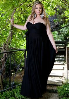 Plus Size Maxi Dresses | Eternity Convertible Maxi Dress in Black | Swakdesigns.com