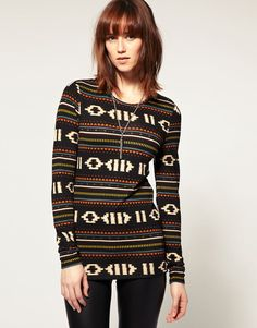 Discover the latest fashion and trends in menswear and womenswear at ASOS. Shop this season's collection of clothes, accessories, beauty and more. Navajo Pattern, Native American Print, Tribal Patterns, Cute Cuts, Hot Dress, Asos Online Shopping, Latest Fashion Clothes, Playing Dress Up, Christmas Sweaters