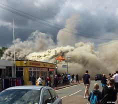 Hemsby fire Thick smoke billowed across the road towards the beach