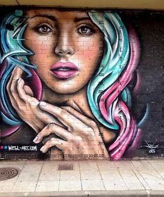 Street Art by Weslart in La Bañeza Spain