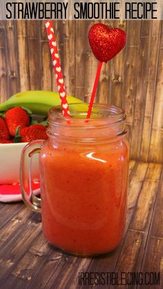 Zero Weight Watchers Points Strawberry Smoothie Recipe by Irresistibleicing.com