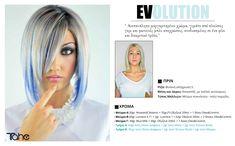 Tahe Evolution Collection  Ανεπανάληπο μαργαριταρένιο χρώμα, γεμάτο από πλούσιες γκρι και φωτεινές μπλε αποχρώσεις, συνδυασμένες με ένα φίνο και διακριτικό τρόπο  Δημιουργήστε με LUMIERE COLOR EXPRESS Evolution, Collections, Hair, Color, Colour, Strengthen Hair, Colors