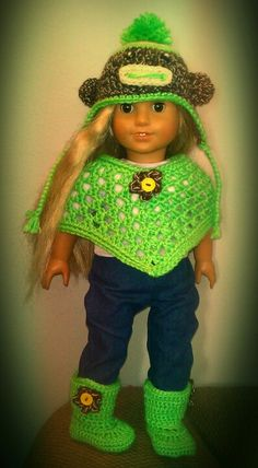 American Girl Crochet Outfit