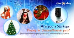 #Christmas and #NewYear specials from RentSher for #startups to host office party on this festive season. Hire Party props, Lightings, Decorations for office/Bays, Music and Speaker systems, Stage decorations and many more from RentSher at affordable price across #Bangalore and #Delhi. Visit us for more details: http://www.rentsher.com/xmas