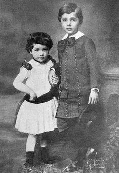 Albert with his younger sister Maria Photo: Bettmann/CORBIS