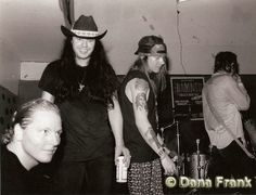 Matt Sorum, Ian Astbury, Axl Rose & Izzy Stradlin - © Dana Frank At  The LOFT NYC June 1989 http://www.danafrank.com