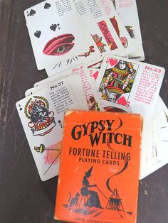 Vintage Gypsy Witch Fortune Telling Card Deck, Halloween, New Age, Occult Card Deck, Deck Of Cards, Halloween News, Halloween Party, Fortune Telling Cards, Gypsy Witch, Vintage Gypsy, Autumn 2017, Cartomancy