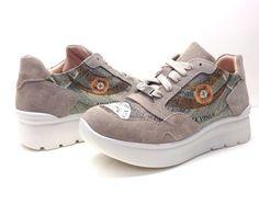 GATTINONI scarpe donna sneaker lacci PEGVA6042WSB BEIGE BLU camoscio simil  hogan 2111fd85639