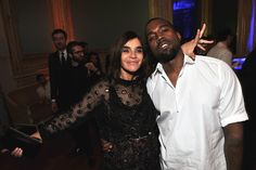 Carine Roitfeld and Kanye West  at Carine Roitfeld's Ball in Paris