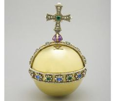 The Sovereigns Orb is also known as Charles II's Orb, as it was made for his Coronation in 1661. The orb represents sovereign power, the cross on top denoting Christian rule. During the Coronation ceremony it is placed in the Sovereign's right hand by the Archbishop of Canterbury before being returned to the altar. It is carried during the procession out of Westminster Abbey in the Sovereign's left hand.