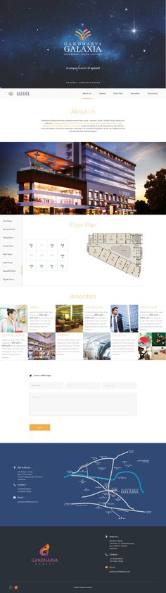 One page website designs for architectures and builders with a new layout of floor plan.