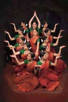 Dancers in lotus pose