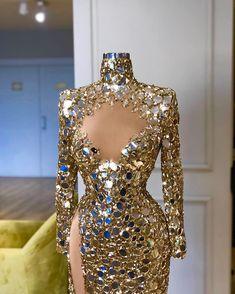 Glam Dresses, Elegant Dresses, Pretty Dresses, Beautiful Dresses, Fashion Dresses, Formal Dresses, Prom Dress Couture, Color Dorado, Gowns Of Elegance