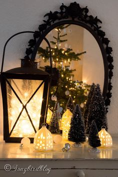 Christmas trick: Place lights in front of a mirror to create the illusion of an even brighter display.