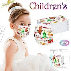 Buy Christmas Children Disposable mask at equashop.com! Free shipping Worldwide. 45 days money back guarantee.