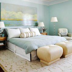 Suzie  Bella Mancini Design   Soothing blue bedroom design with   Suzie  Bella Mancini Design   Soothing blue bedroom design with blue walls  paint color  capiz     Colour   Pinterest   Blue wall paints  Blue  bedrooms and  . Artwork For Bedroom. Home Design Ideas